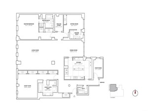 floorplan for 737 Park Avenue #16A