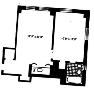 floorplan for 5 Tudor City Place #525