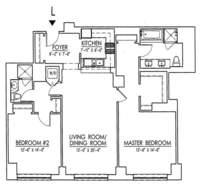 floorplan for 15 Central Park West #8L