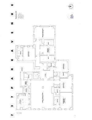 floorplan for 737 Park Avenue #15E