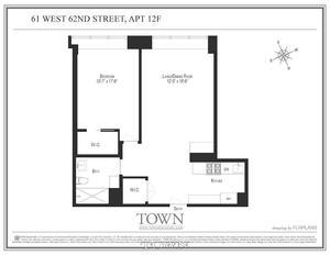 floorplan for 61 West 62nd Street #12F
