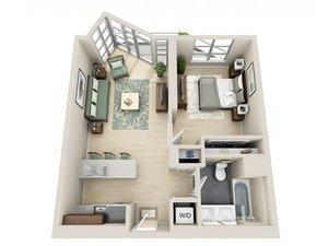 floorplan for 111 Kent Avenue #2R