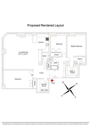 floorplan for 61 West 62nd Street #4JK