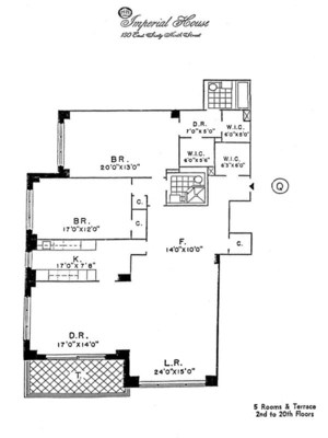 floorplan for 150 East 69th Street #7Q