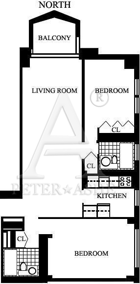 floorplan for 220 East 65th Street #18M