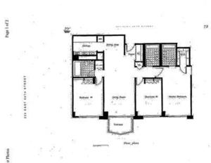 floorplan for 220 East 65th Street #7G