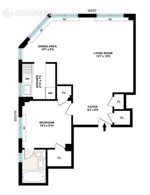 floorplan for 200 E 36th Street #19A