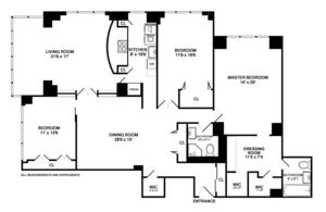floorplan for 150 East 69th Street #3C