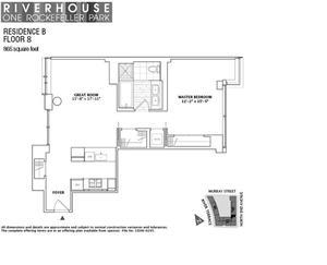 floorplan for 2 River Terrace