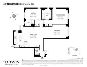 floorplan for 737 Park Avenue #4G