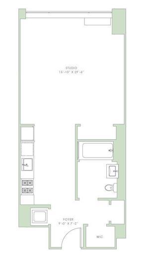 floorplan for 303 E 33rd #7B