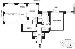 floorplan for 15 Central Park West #2E