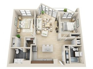 floorplan for 111 Kent Avenue #3B