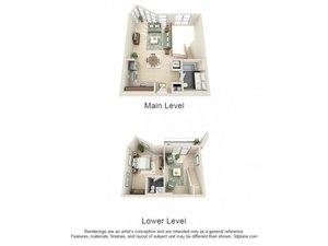 floorplan for 111 Kent Avenue #1F