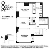 floorplan for 300 East 79th Street #3B