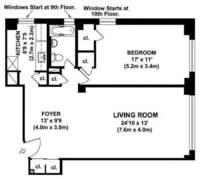 floorplan for 200 East 36th Street #7B