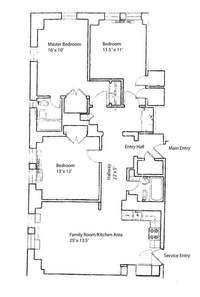 floorplan for 5 Tudor City Place #A1