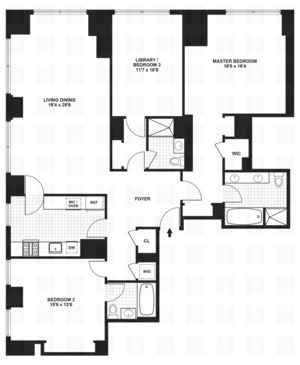 floorplan for 845 United Nations Plaza #5A