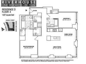 floorplan for 2 River Terrace #4D