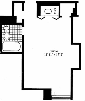 floorplan for 5 Tudor City Place #707