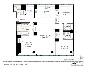floorplan for 2 River Terrace #3T