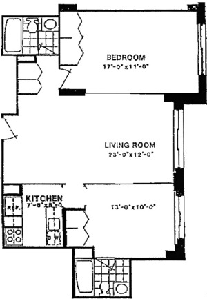floorplan for 220 East 65th Street #15N