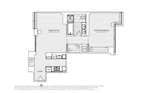 floorplan for 2 River Terrace #11B