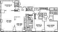 floorplan for 845 United Nations Plaza #60B