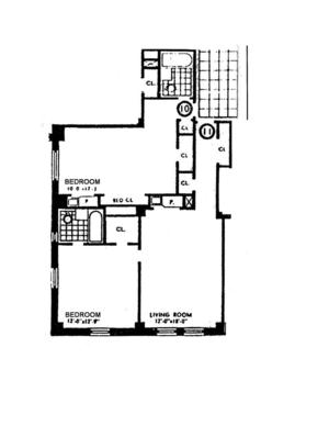floorplan for 5 Tudor City Place 310/311