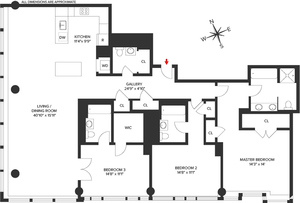 floorplan for 2 River Terrace #20D