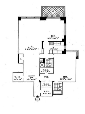 floorplan for 150 East 69th Street #9J