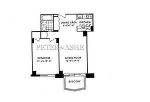floorplan for 220 E 65th Street #11D