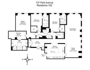 floorplan for 737 Park Avenue #15C