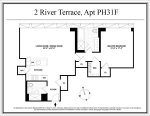 floorplan for 2 River Terrace #PH31F