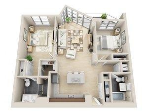 floorplan for 111 Kent Avenue #2O