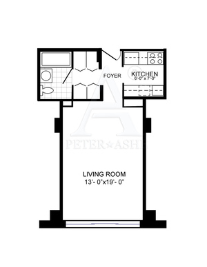 floorplan for 220 East 65th Street #6E