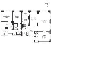floorplan for 845 United Nations Plaza #44B