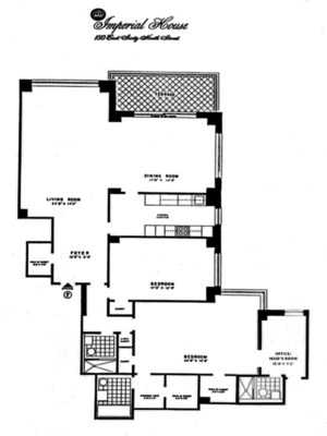 floorplan for 150 East 69th Street #3FX