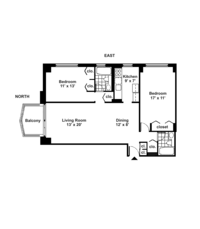 floorplan for 220 East 65th Street #4M