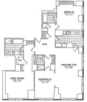 floorplan for 845 United Nations Plaza #7A