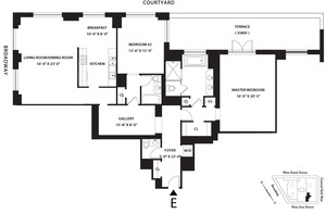 floorplan for 15 Central Park West #2E