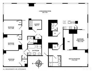 floorplan for 2 River Terrace #25A