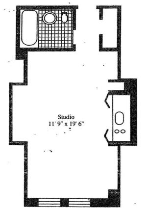 floorplan for 5 Tudor City Place #401