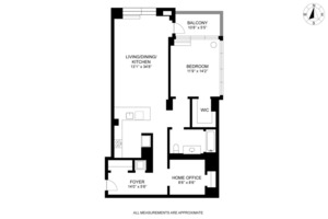 floorplan for 303 East 33rd Street #8C