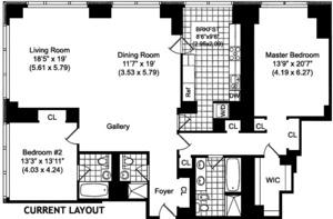 floorplan for 845 United Nations Plaza #63C