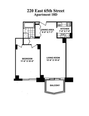floorplan for 220 East 65th Street #17D