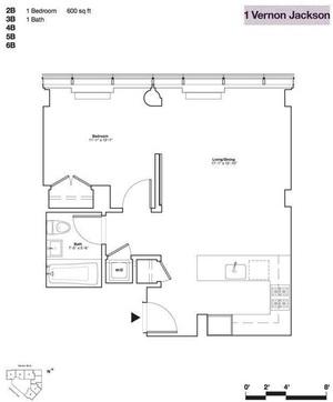 floorplan for 10-17 Jackson Avenue #3B