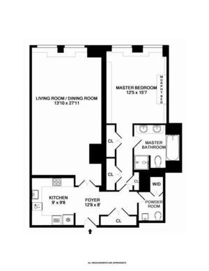 floorplan for 15 Central Park West #2B