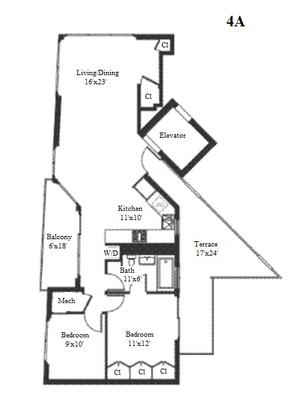 floorplan for 268 Wythe Avenue #4A