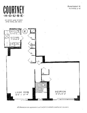 floorplan for 55 West 14th Street #9K
